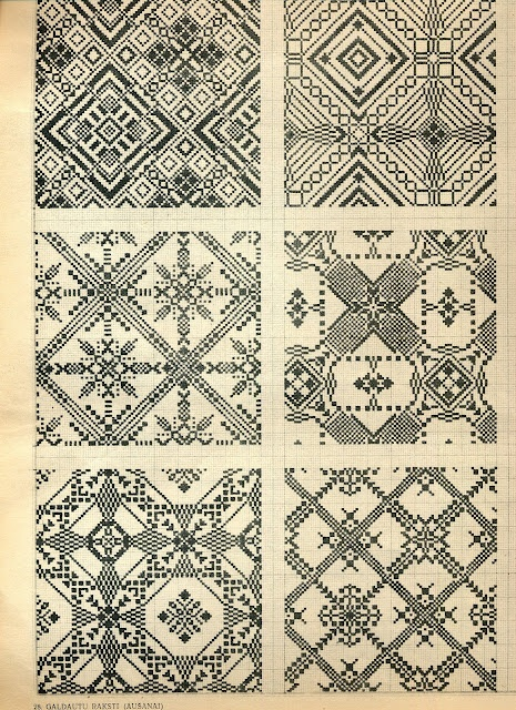 folk art free charts cross stitch - maybe can be converted to loom beading designs?