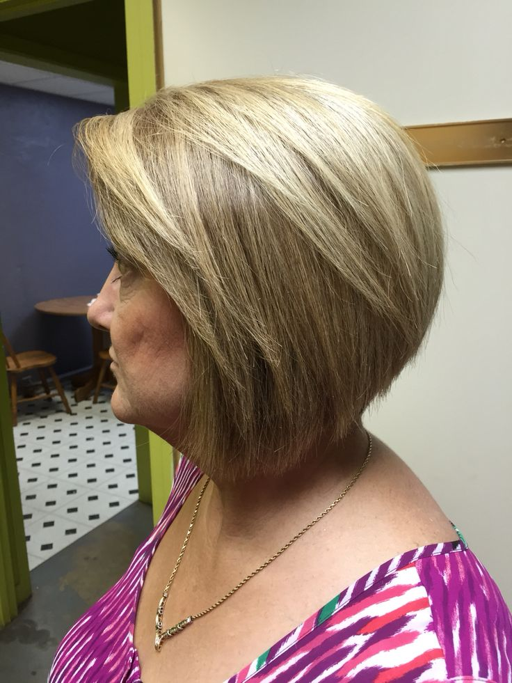Feathered Bang Bob With All Over Highlight Hair Studio Of