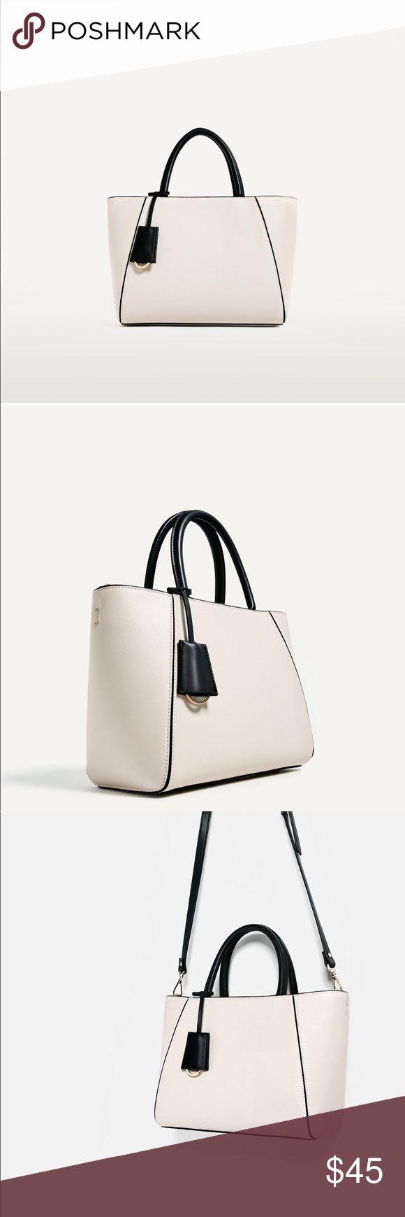 """Zara tote bag H:8.6"""", W:12.9"""", Depth: 5.9"""" Zara Bags Totes"""