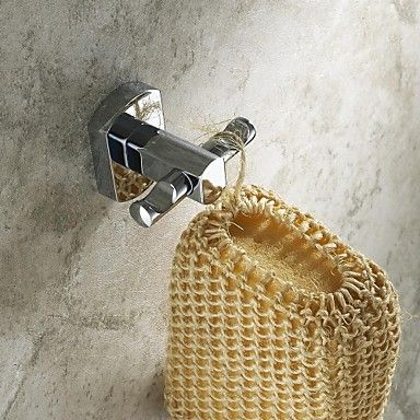 Contemporary+Chrome+Finish+++Wall+Mount+Brass+Robe+Hooks+–+AUD+$+39.72