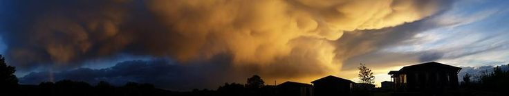 Photographers: Diego Fabriccio Díaz Palomo; Ken Summers Summary Authors: Diego Fabriccio Díaz Palomo; Ken Summers; Jim Foster   The panoramas at top and bottom show attention-getting mammatus clouds over San José Pinula, Guatemala and Lasham, Hampshire, U.K., respectively. Mammatus clouds such as these can form when downdrafts in a thunderstorm complex push against a storm cell's base. On occasion they're observed on the underside of cumulonimbus anvil clouds. It may look as though a funnel…