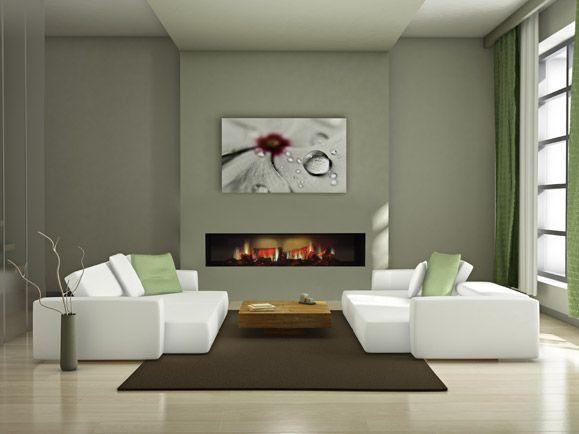 Die besten 25+ moderner elektrischer Kamin Ideen auf Pinterest - wohnwand mit kamin