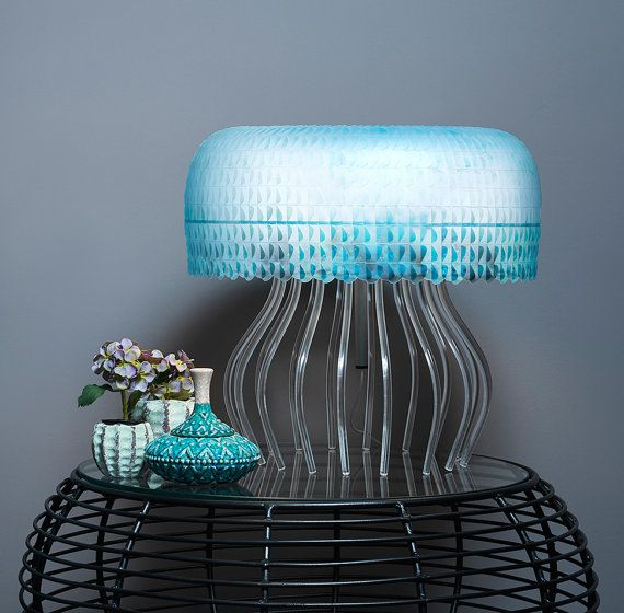 Medusa Table Lamp 'Lagoon' by LaokoonDesign on Etsy