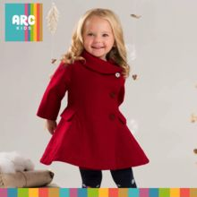 A Beautiful warm winter coat for girls. This is one of my favorite pieces from our winter 2017 collection. From 18 months to 7 years old.