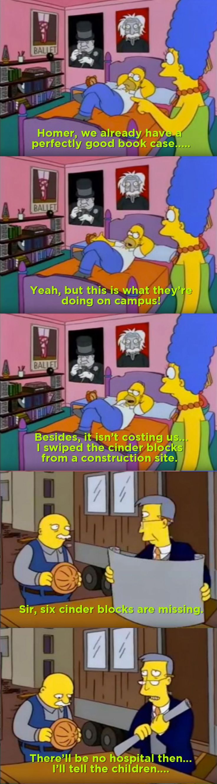 Homer's dorm room inspired furniture