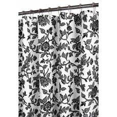 Black And White Flower Shower Curtain. Park B  Smith Floral Swirl Watershed Shower Curtain White Black I would totally get this if switched my bathroom theme to black and white 42 best Curtains images on Pinterest Showers Bathroom