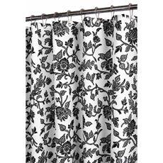 Park B. Smith Black Floral Swirl 72u0027 X 72u0027 Watershed Shower Curtain
