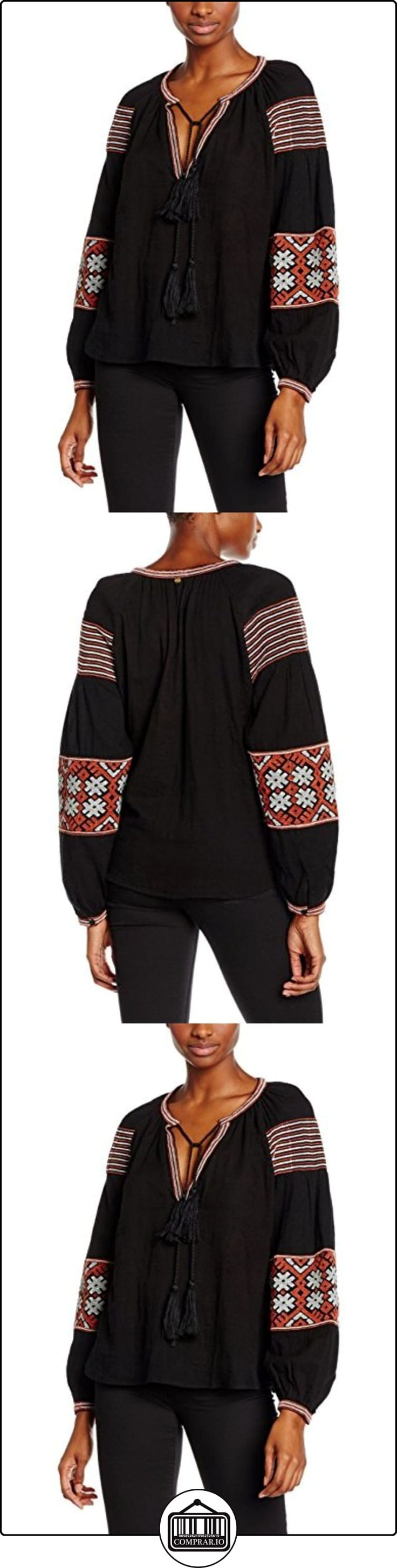 Antik Batik Modi, Blusa para Mujer, Negro (Faded Black), S  ✿ Blusas y camisas ✿
