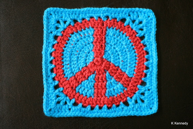 Crochet Pattern For Peace Symbol To Make Pin Dancox For