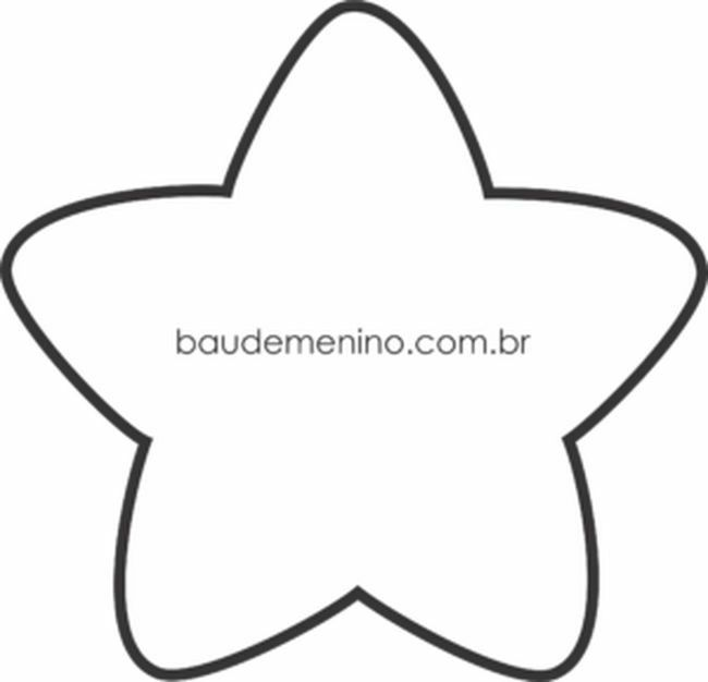 Molde estrella | almohadas | Pinterest | Felt patterns, Applique ...