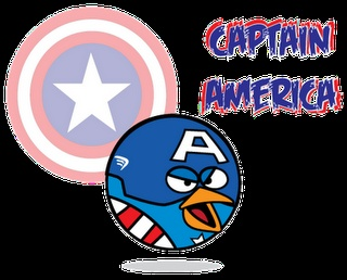 Captain America Bird From A Series Of Superhero Angry Birds