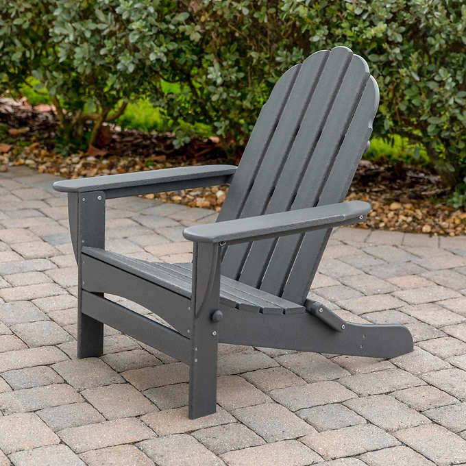 Long Beach Folding Adirondack Chair Rustic Outdoor Furniture