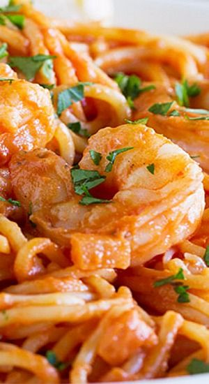 Creamy tomato basil shrimp
