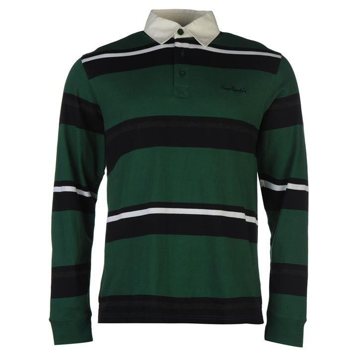 Pierre Cardin | Pierre Cardin Long Sleeve Rugby Polo Shirt Men's | Men's Polo Shirts