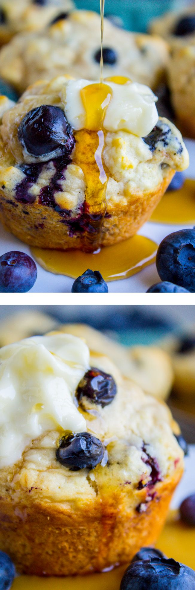 Blueberry Buttermilk Pancake Muffins with Maple Syrup | The Food Charlatan
