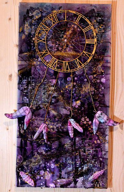 The Dreamcatcher - 60 x 30 mixed media canvas