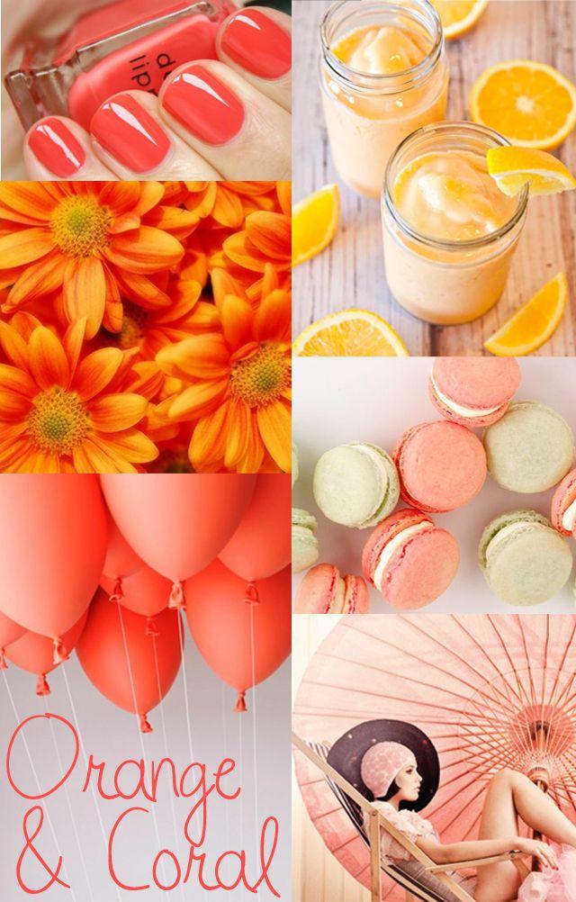pretty Orange & Coral summery photo collage