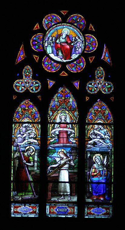 Stained glass windows of the Church of Our Lady of Immaculate, Guelph, Ontario.