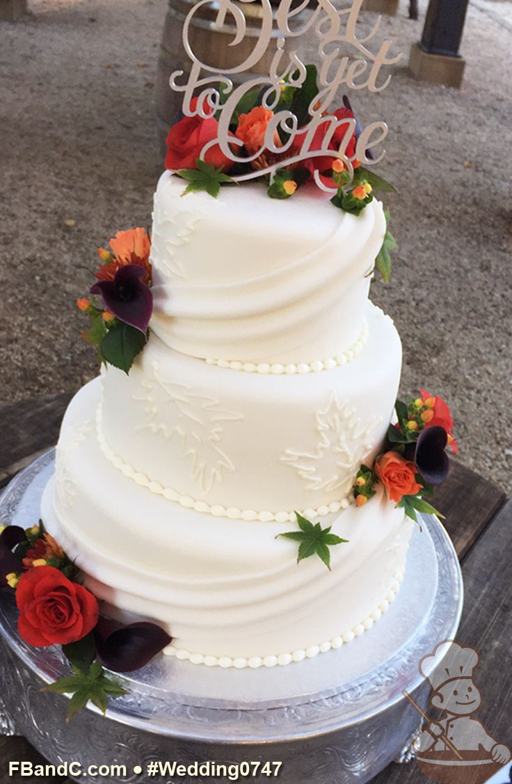 "Design W 0747| Fondant  Wedding Cake | 12""+9""+6"" 