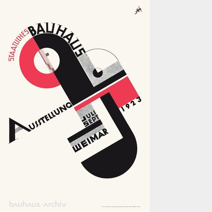 poster bauhaus exhibition 1923 version joost schmidt 4 poster pinterest bauhaus and. Black Bedroom Furniture Sets. Home Design Ideas