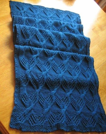 Cable Knit Throw Pattern Free : Hand Knitting Tutorials: Cable Knit Throw - Free Pattern fays-Knitting...