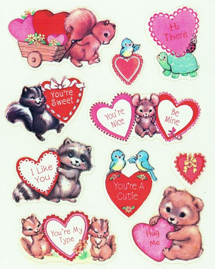 17 Best Images About Valentines Day Stickers On Pinterest