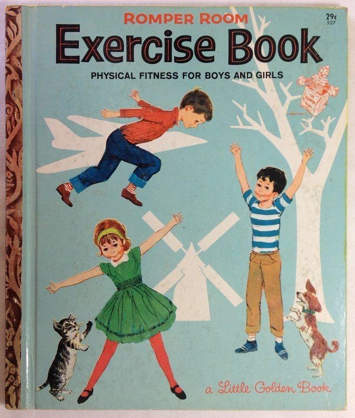 Romper Room Exercise Book : Little Golden Book 1964 1st Ed #527 .29c 1964 1st A