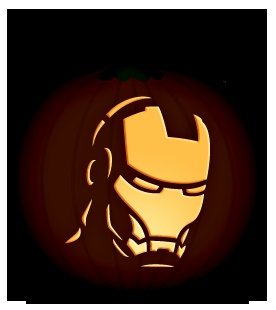 Iron Man | Orange and Black Pumpkins