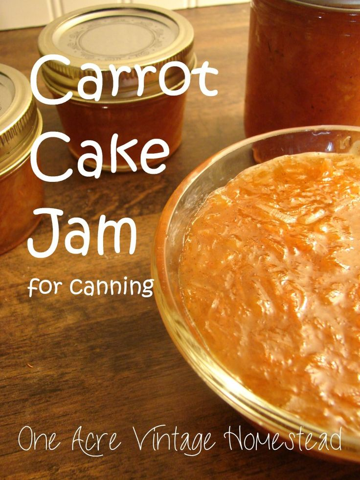 Carrot Cake Jam from One Acre Vintage Homestead
