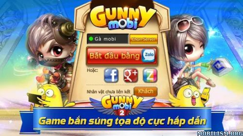 Gunny Mobi – Bắn Gà Teen&Cute v2.5.11 ModRequirements: Android 2.3.3+Overview: Gunny Mobi is the official mobile version of the legendary browser game Gunny on PC. Game genre shooter coordinates for Teen, Teen will love Gunny Mobi because...