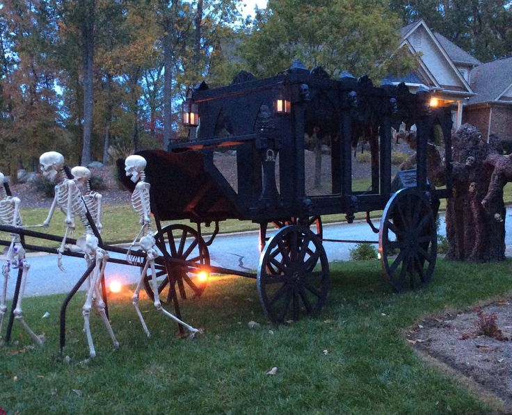horse drawn hearse by forum member the halloween lady