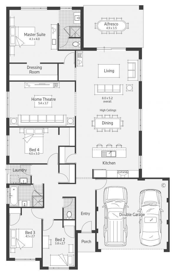 54 best Floor Plans images on Pinterest | Modern contemporary homes ...