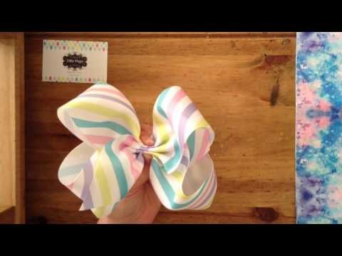 "Easy simple 8"" boutique southern JoJo style dance bow tutorial - YouTube"