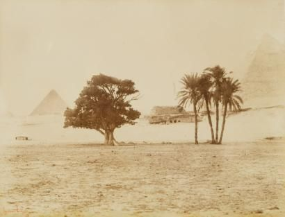 Gustave Le Gray (1820-1884) Campagne dEgypte. 1863-1865. Pyramides de Gizeh,