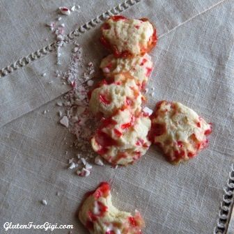 GF Candy Cane Cookies - dairy & egg free, too!
