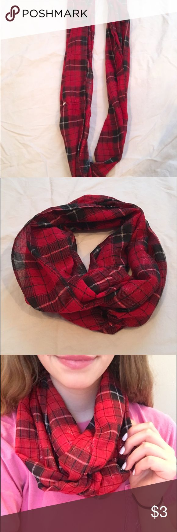 Red plaid scarf Great condition! Perfect for the winter time Accessories Scarves & Wraps