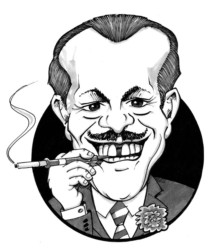 Terry Thomas caricature. www.tonyjohnsoncreativedesign.co.uk (please visit and hit like below me on the chair!)