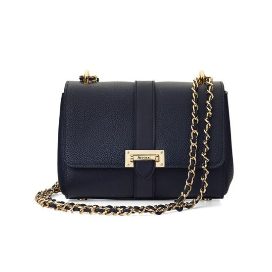 Lottie Bag in Smooth Navy from Aspinal of London