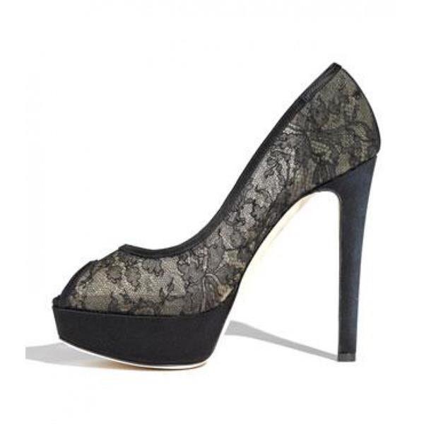 Кружевные туфли диор