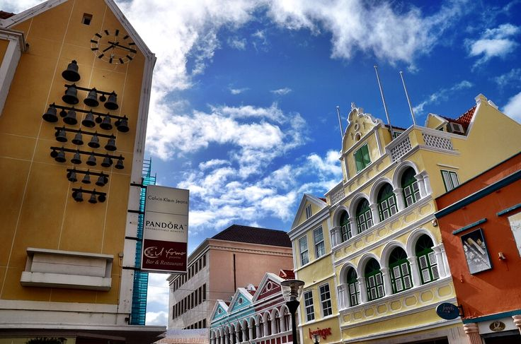 The capital of Curacao, Willemstad, is famous around the world for its colorful buildings. The most colorful part of town is the Punda district, home to many historical buildings.