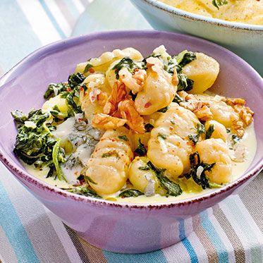 Gnocchi mit Gorgonzolaspinat Rezept | Küchengötter