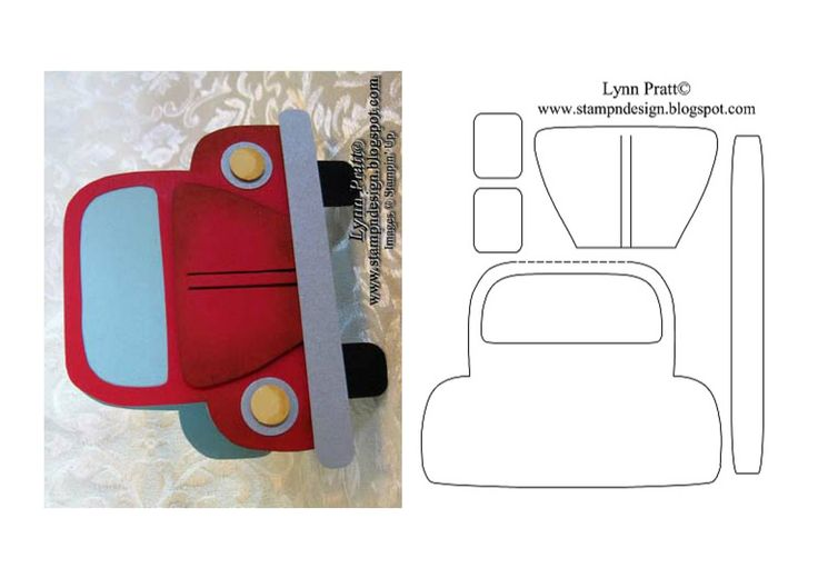 Car card and template
