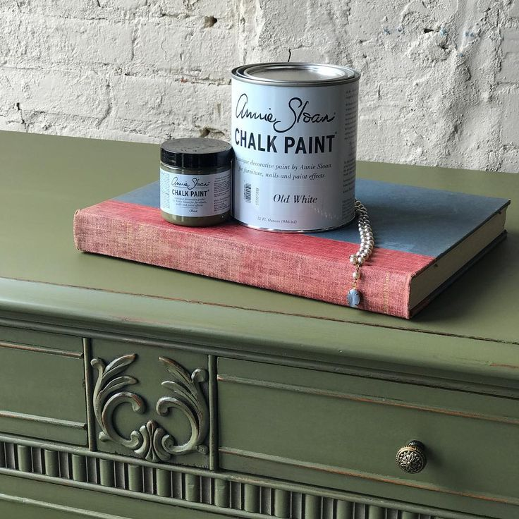 Stunning Sideboard Painted With Chalk Paint® Decorative Paint In Olive With  The Details Highlighted With Annie Sloan Gilding Wax In Warm Gold.