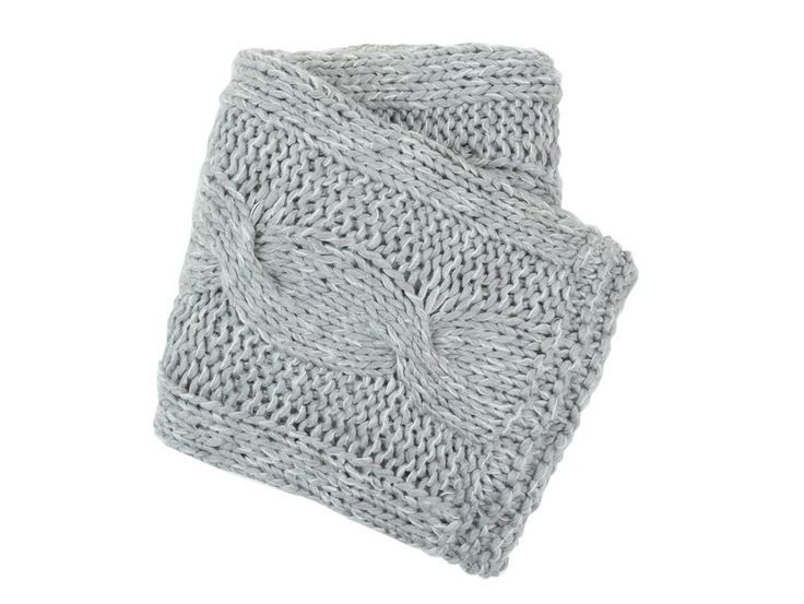 Cable Knit Grey Throw