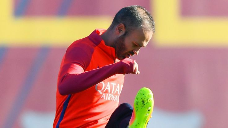 Barcelona captain Andres Iniesta out of Espanyol game through injury