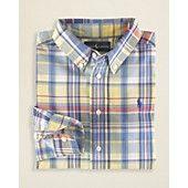 Ralph Lauren Childrenswear Boys' Blake Yarn Dyed Plaid Shirt - Sizes 2T-7
