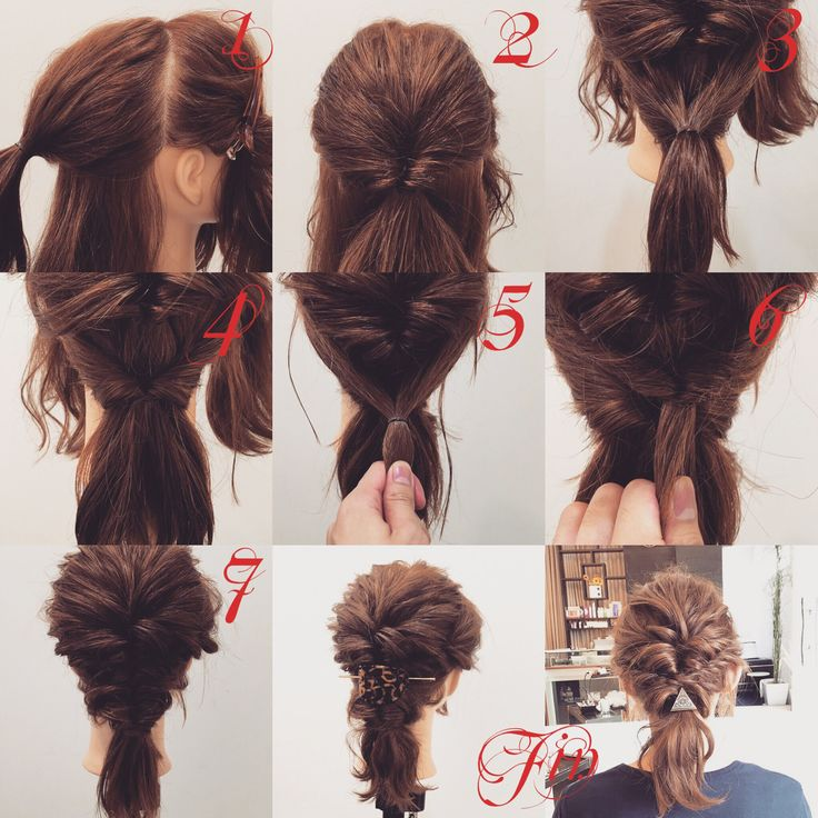 Medium arrangement ★ 1, divide the side and back, behind the ear ties the hair 2, the back covers 3, tie the back underneath the hair at the 2 nd tip 4, the kururin I will. When you tighten the rubber you will feel the 2nd tip will get inside 5, tie the side hair between the 2nd Kururinpan and the 4th Kurarinpu 6, 2 times in the courtroom way Twist 7 Put the tip of 6 and 6 into the fourth round Fin, Complete when it collapses Arrange with Majeste ✨ Please try it as a reference ^
