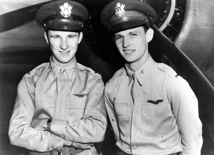 Kenneth Taylor and George Welch. (Credit: U.S. Air Force) Heroes of Pearl Harbor