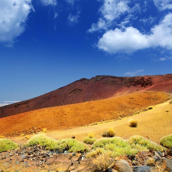 Parque nacional del teide en Tenerife Canarias