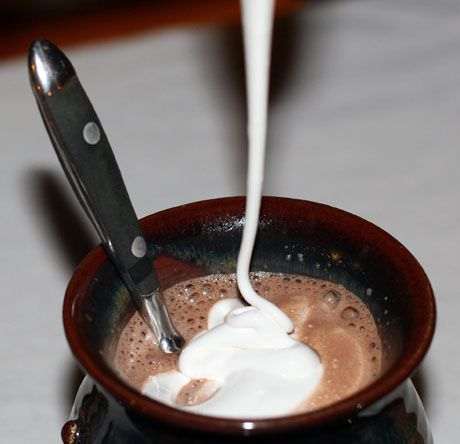 Marshmallow Fluff (Recipe: Rhode Island hot chocolate, with faux fluff) {The Perfect Pantry} used in between peanut butter cookies
